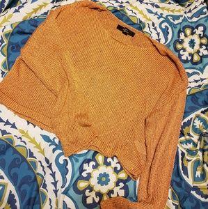 Forever21 cropped burnt orange sweater